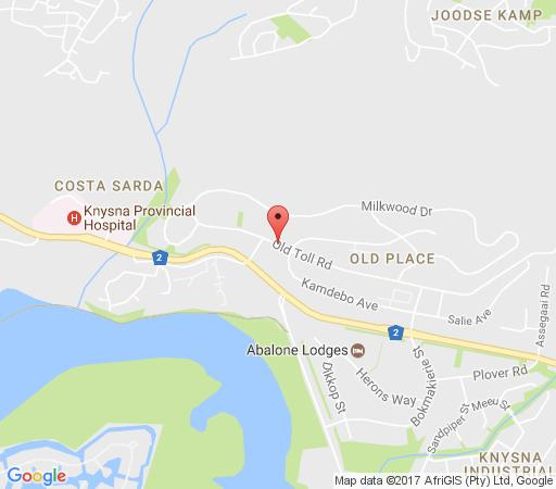 Map Headsview Apartment in Knysna  Garden Route  Western Cape  South Africa