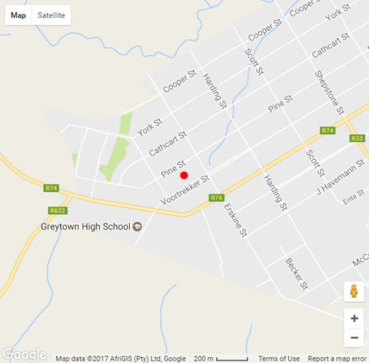 Map The Rawstornes in Greytown  Midlands  KwaZulu Natal  South Africa