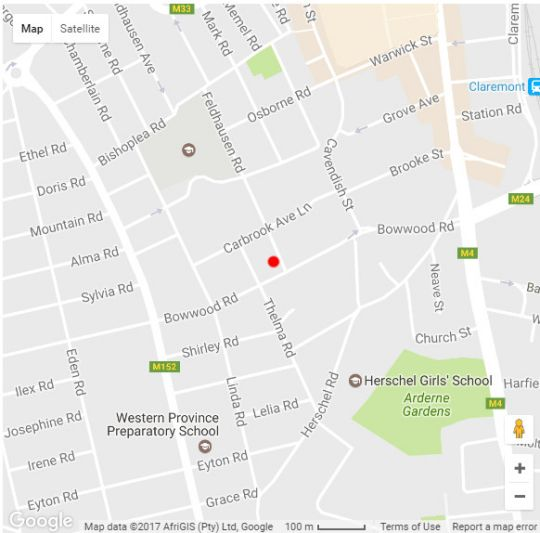 Map Lucia\'s Cottage in Claremont  Southern Suburbs (CPT)  Cape Town  Western Cape  South Africa
