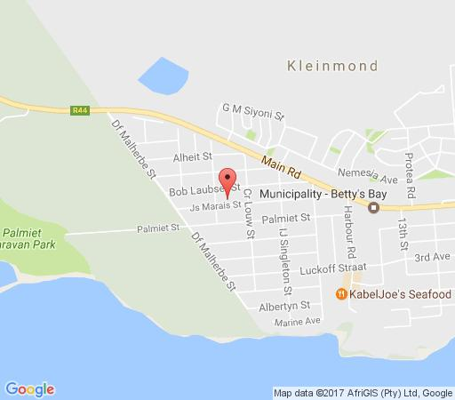 Map Petit Paradis in Kleinmond  Overberg  Western Cape  South Africa