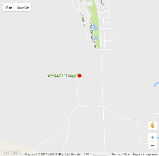 Map Namastat Lodge in Springbok  Namakwaland  Northern Cape  South Africa