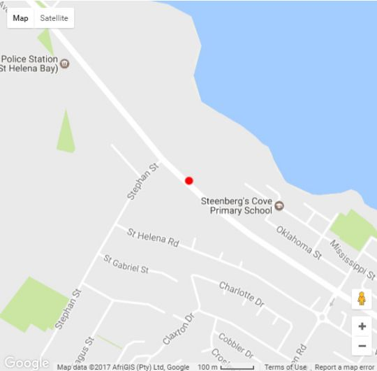 Map St Helena Bay Hotel in St Helena Bay  West Coast (WC)  Western Cape  South Africa