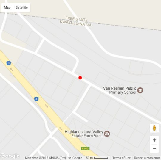 Map Green Lantern Inn in Harrismith  Thabo Mofutsanyana  Free State  South Africa