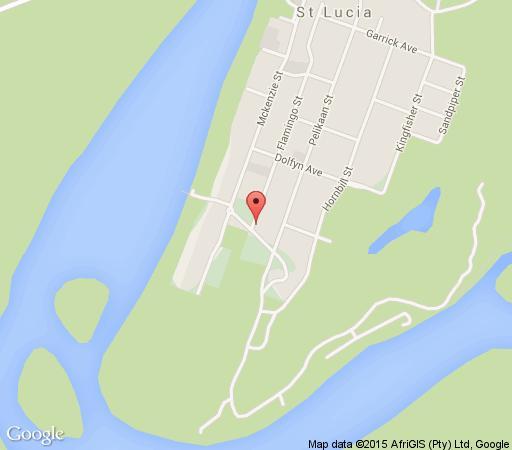 Map 77 Flamingo House in St Lucia  Zululand  KwaZulu Natal  South Africa