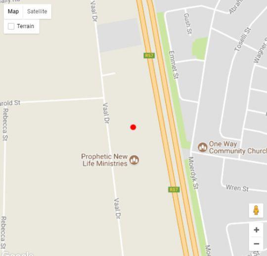 Map Elephant Lodge Guest House in Vanderbijlpark  Sedibeng District  Gauteng  South Africa