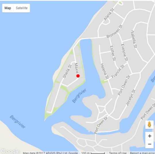 Map 27 & 29 Maxie Drive in Velddrif  West Coast (WC)  Western Cape  South Africa
