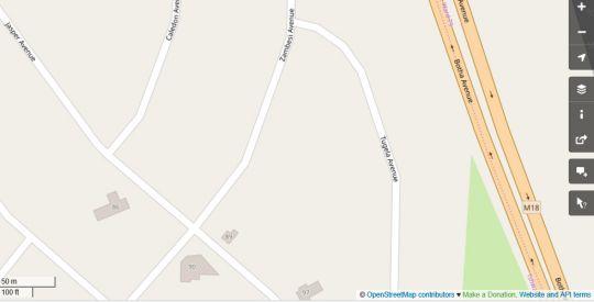 Map Red Wall Self Catering Studio in Doringkloof  Centurion  Pretoria / Tshwane  Gauteng  South Africa