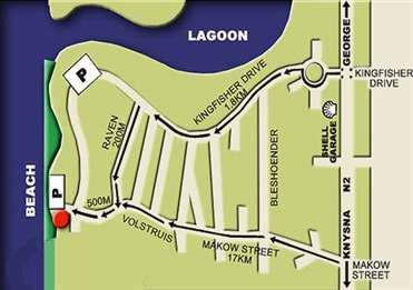 Map Myoli Beach Lodge in Sedgefield  Garden Route  Western Cape  South Africa