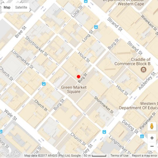 Map Greenmarket Square Loft in Cape Town CBD  City Bowl  Cape Town  Western Cape  South Africa