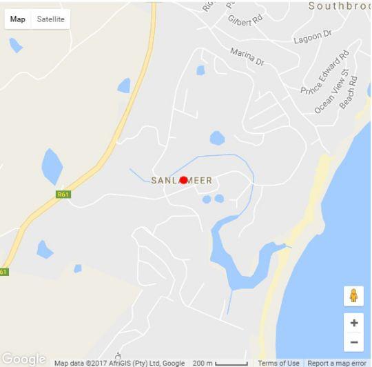 Map San Lameer Villa 3107 in San Lameer  South Coast (KZN)  KwaZulu Natal  South Africa
