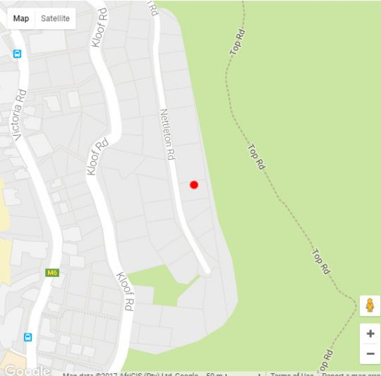 Map 21 Nettleton in Clifton  Atlantic Seaboard  Cape Town  Western Cape  South Africa