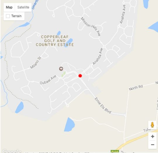 Map Sarah\'s Guest House in Monavoni  Centurion  Pretoria / Tshwane  Gauteng  South Africa