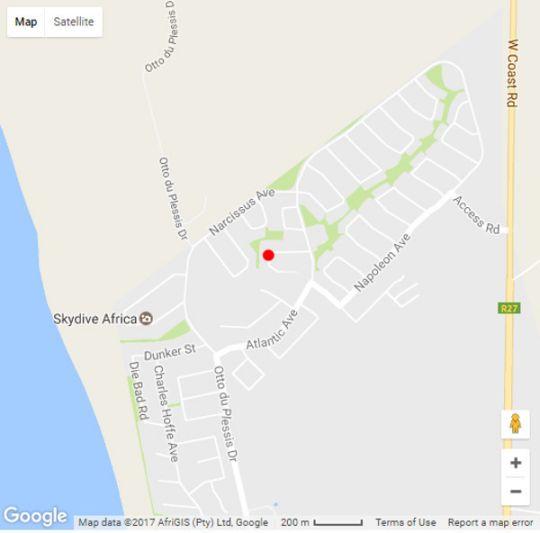 Map Orange Inn Melkbosstrand in Melkbosstrand  Blaauwberg  Cape Town  Western Cape  South Africa