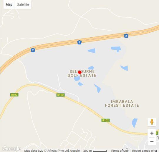Map Magnolia Lane in Pennington  South Coast (KZN)  KwaZulu Natal  South Africa