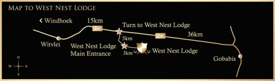 Map West Nest Lodge in Gobabis  Omaheke  Namibia