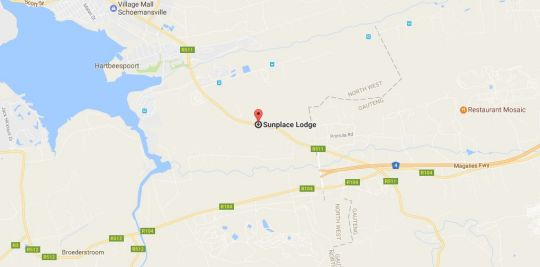 Map Sunplace Lodge in Hartbeespoort  Bojanala  North West  South Africa