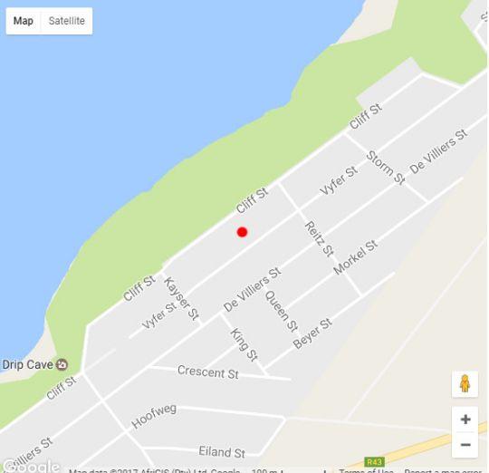 Map Amazing Grace B&B in De Kelders  Overberg  Western Cape  South Africa