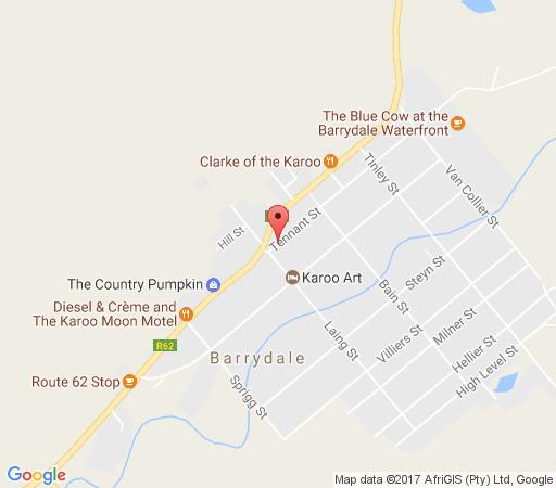 Map Barrydale Karoo Lodge in Barrydale  Overberg  Western Cape  South Africa