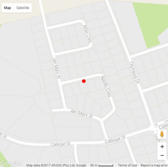 Map Altered Ego Guesthouse in Bloemfontein  Mangaung  Free State  South Africa
