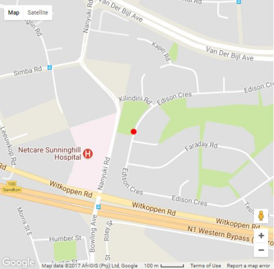 Map 86 Edison Guest Lodge in Sunninghill  Sandton  Johannesburg  Gauteng  South Africa
