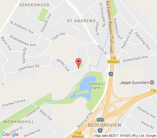 Map Hotelian - St Andrews Hotel and Spa in Bedfordview  Ekurhuleni (East Rand)  Gauteng  South Africa