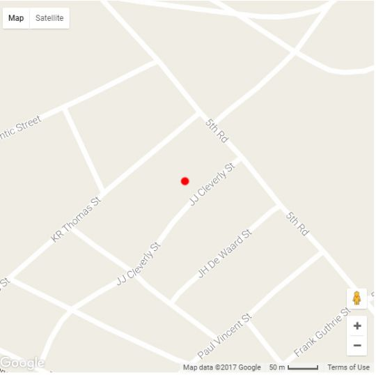 Map Buschtrommel Accommodation in Walvis Bay  Erongo  Namibia