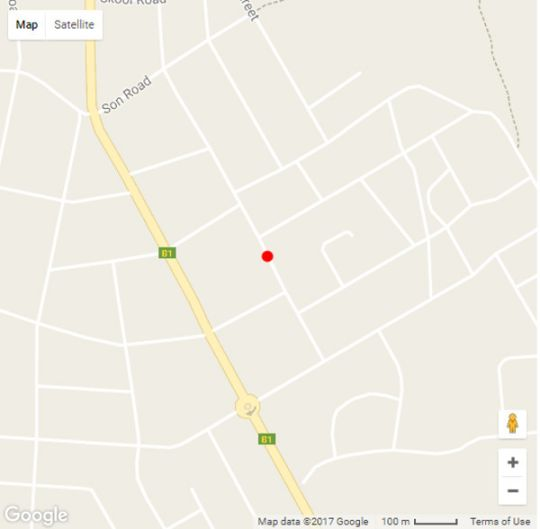 Map Out of Africa Guest House in Otjiwarongo  Otjozondijupa  Namibia