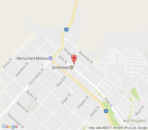 Map Buckleys Guest Accommodation in Smithfield  Xhariep (Southern Free State)  Free State  South Africa