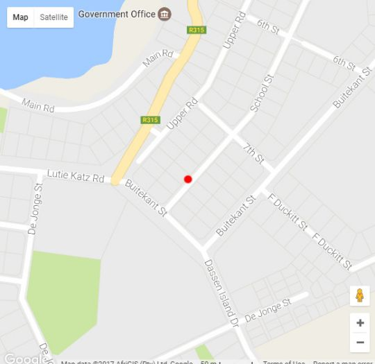 Map EngelZicht Self-Catering Villa in Yzerfontein  West Coast (WC)  Western Cape  South Africa