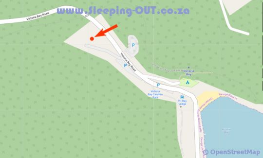 Map Victoria Bay Holiday Cottage in Victoria Bay  Garden Route  Western Cape  South Africa