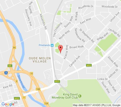 Map Alison\'s place in Pinelands  Southern Suburbs (CPT)  Cape Town  Western Cape  South Africa