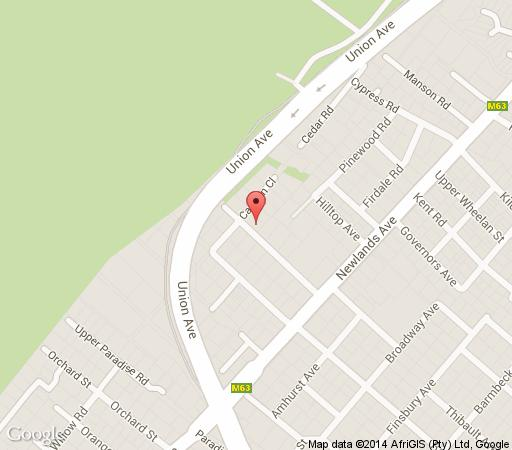 Map Kidger House Guest House in Newlands (CPT)  Southern Suburbs (CPT)  Cape Town  Western Cape  South Africa