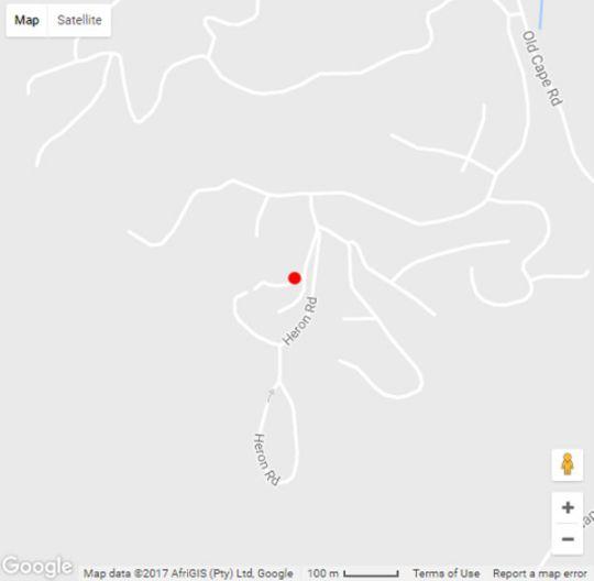 Map Carol-Lynn\'s in Knysna  Garden Route  Western Cape  South Africa