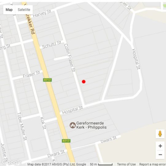 Map Sunset Place in Philippolis  Xhariep (Southern Free State)  Free State  South Africa
