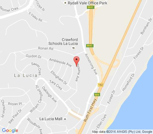 Map Shelbourne Lodge in La Lucia  Northern Suburbs (DBN)  Durban and Surrounds  KwaZulu Natal  South Africa