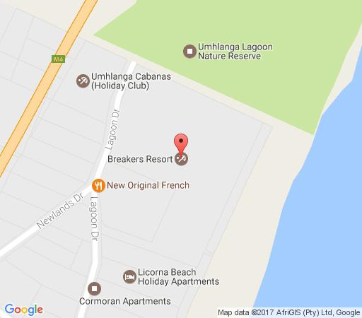 Map Breakers Resort 414 in Umhlanga Rocks  Umhlanga  Northern Suburbs (DBN)  Durban and Surrounds  KwaZulu Natal  South Africa
