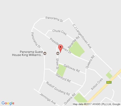 Map Hubertha Guest House in King Williams Town  Amatole  Eastern Cape  South Africa