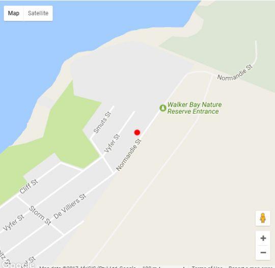Map SEAesta in Gansbaai  Overberg  Western Cape  South Africa