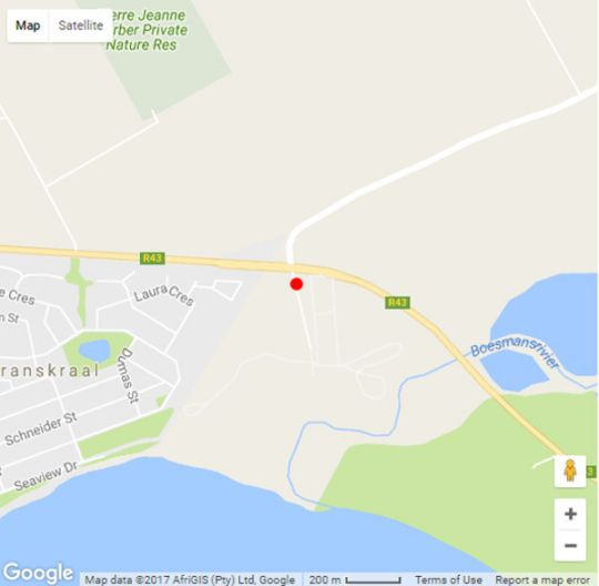 Map Uilenstay in Gansbaai  Overberg  Western Cape  South Africa