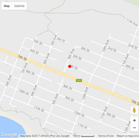 Map 157 Sixth Street in Hermanus  Overberg  Western Cape  South Africa