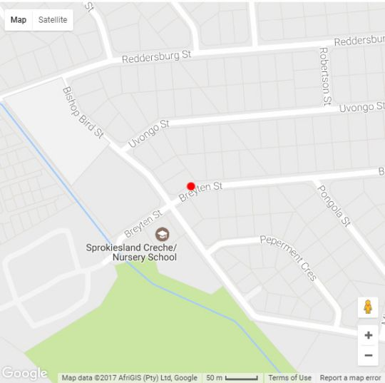 Map Germa Guesthouse in Wierda Park  Centurion  Pretoria / Tshwane  Gauteng  South Africa