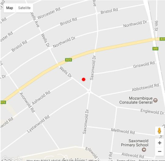 Map Englewold Manor Guest House in Saxonworld  Northcliff/Rosebank  Johannesburg  Gauteng  South Africa