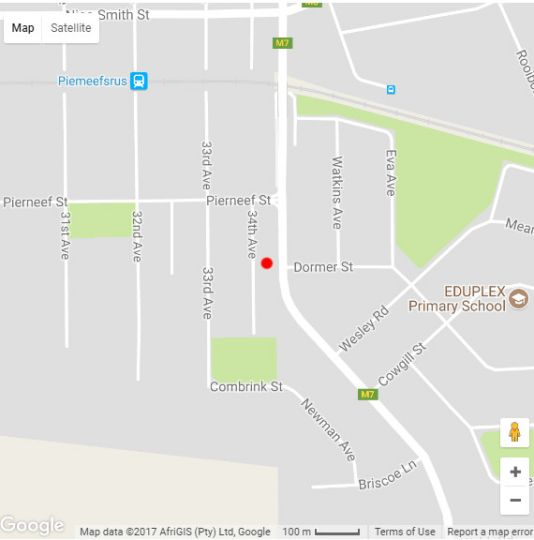 Map 298 on 34th in Arcadia  Pretoria Central  Pretoria / Tshwane  Gauteng  South Africa
