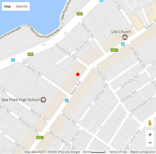 Map Go Green Self - Catering Accommodation in Sea Point  Atlantic Seaboard  Cape Town  Western Cape  South Africa