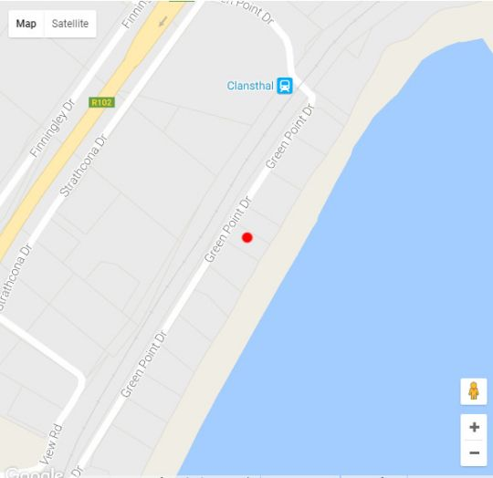 Map Scottsburg Beach Front Cottages in Umkomaas  South Coast (KZN)  KwaZulu Natal  South Africa