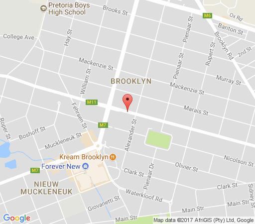 Map Mi Casa SuCasa Manor in Brooklyn (PTA)  Pretoria Central  Pretoria / Tshwane  Gauteng  South Africa