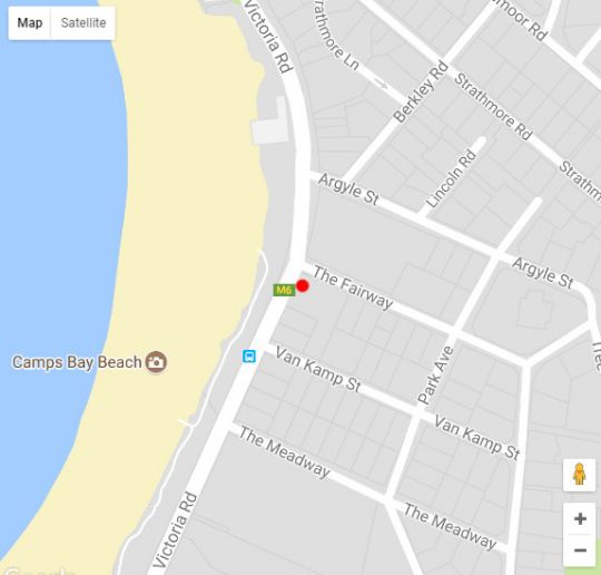 Map Place on the Bay in Camps Bay  Atlantic Seaboard  Cape Town  Western Cape  South Africa