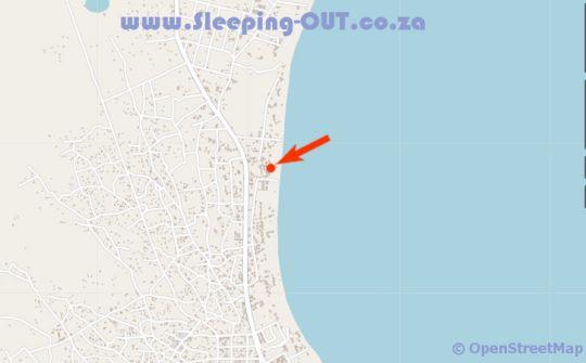 Map Vilanculos Beach Lodge in Vilanculos  Inhambane  Mozambique