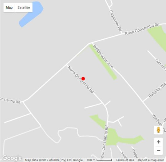 Map Constantia Spring in Constantia (CPT)  Southern Suburbs (CPT)  Cape Town  Western Cape  South Africa