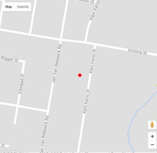 Map 21 Klein Karoo Street in Oudtshoorn  Klein Karoo  Western Cape  South Africa